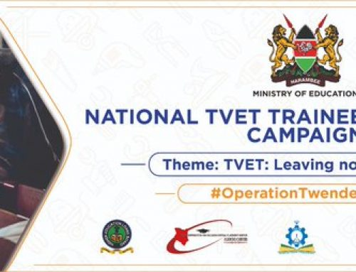 National TVET Trainee Recruitment Campaign; Kenya has 300,000  students in the TVET sector with a  target of 5m students in the next 5 years.