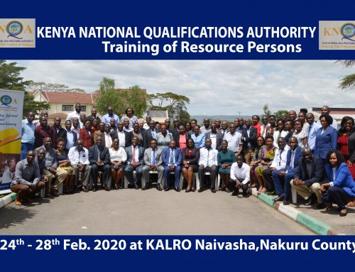 Training of KNQA resource persons officially opened by CAS Zack Kinuthia.