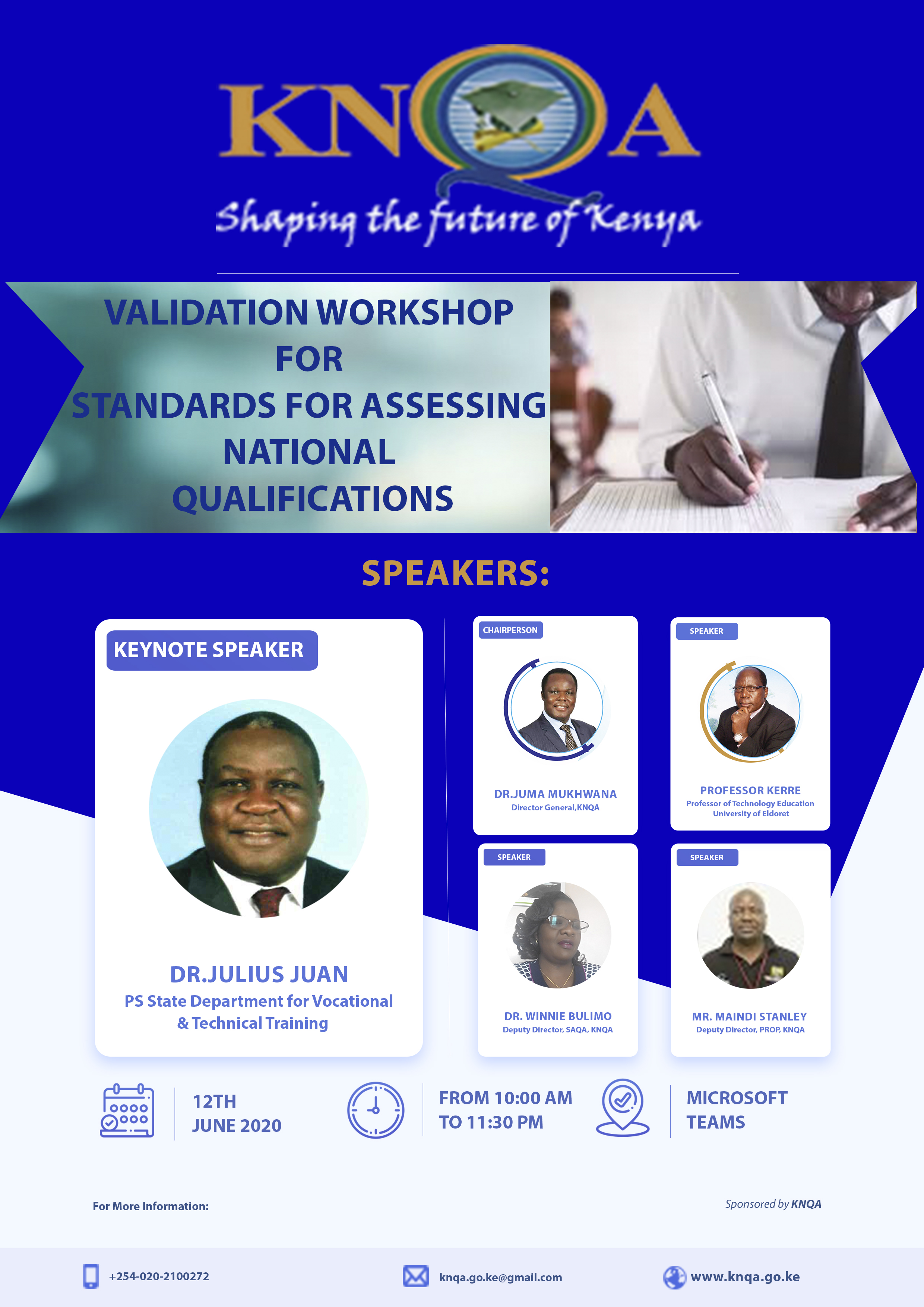 Validation Workshop for Standards for Assessing National Qualifications