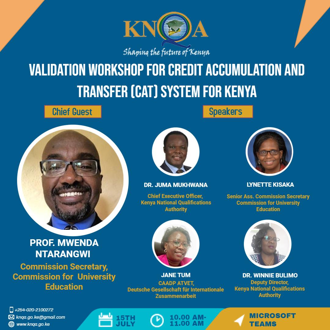 Validation Workshop for Credit Accumulation and Transfer (CAT) System for Kenya