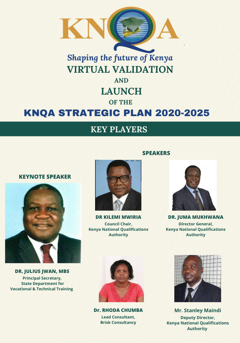 Join Virtual Consultation and Launch of the KNQA Strategic Plan 2020-2025