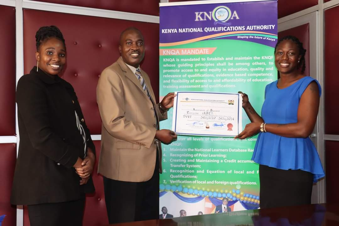 Kenya National Qualification Authority Awards Certificate of Qualification Equivalence to the Association of Business Executives (ABE)