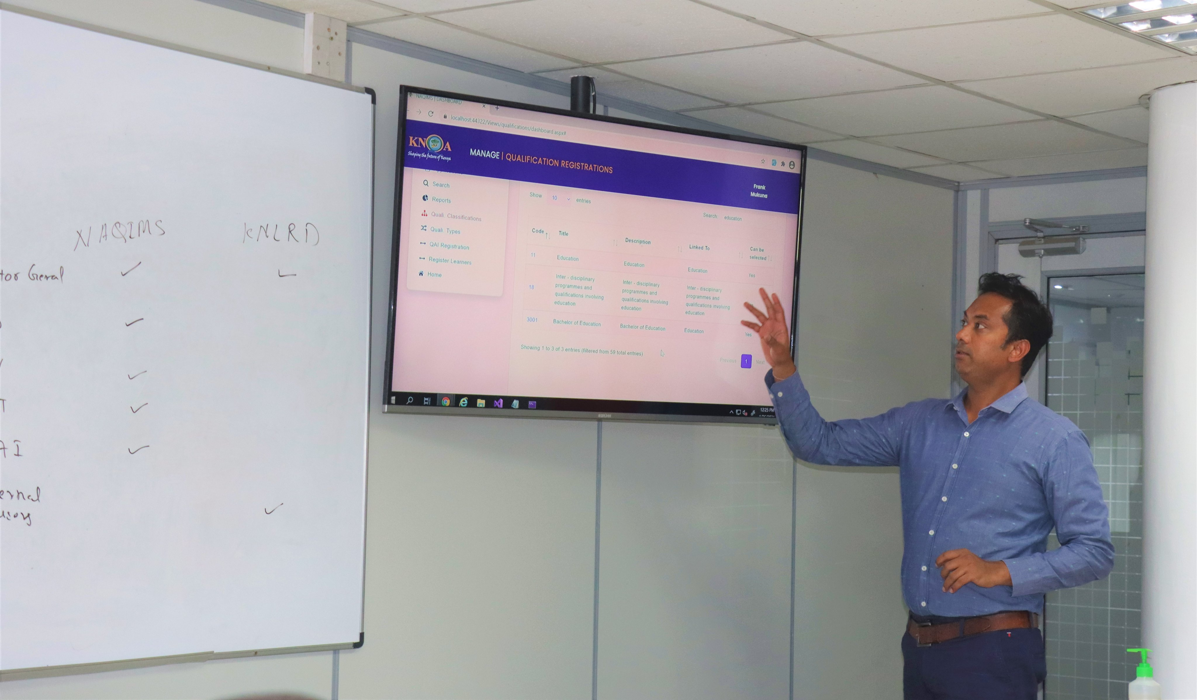 KNQA Staff members undergo training on the National Qualification Information Management System (NAQIMS))