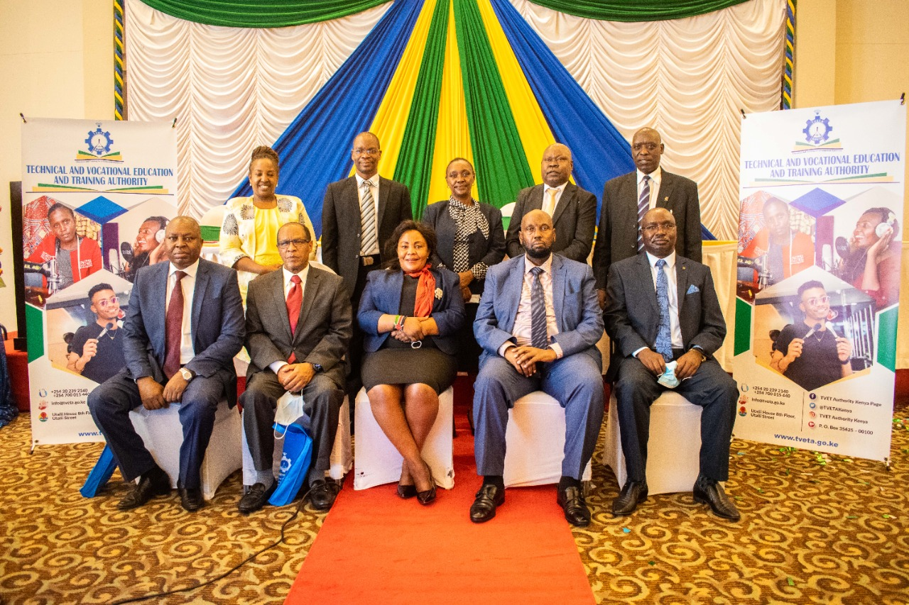 TVETA ISO Certification and National TVET Standards Report 2020 launch at Crowne PLaza. In attendance CAS Education Dr Sarah Ruto & Hon. Hassan Noor Hassan, PS Dr. Margaret Mwakima