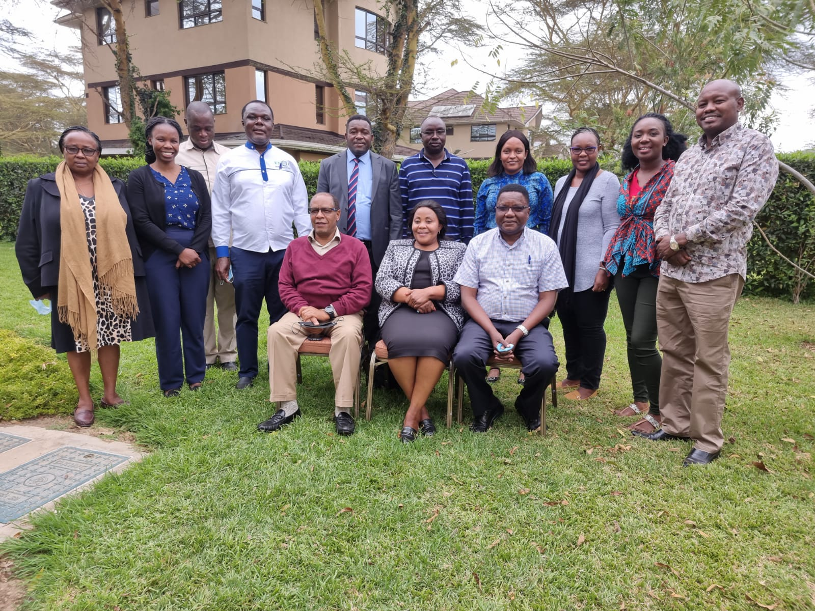 The KNQA,  TVETA and TVET CDACC Team with PS Vocational and Technical Training Dr Margaret Mwakima during a discussion to Harmonize operations of the three state Agencies in Nakuru County today.