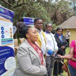 The PS for Vocational and Technical Training Dr Margaret Mwakima during the closing ceremony of the KNQA Council Retreat in Nakuru County today. She was accompanied by the KNQA Chair Dr Kilemi and the DG Dr Juma Mukhwana.