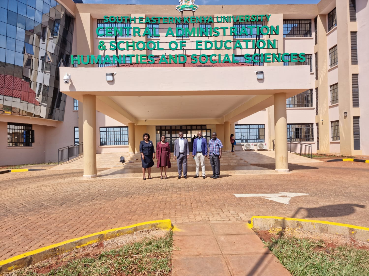 Dr Juma Mukhwana the DG KNQA during a tour of South Eastern Kenya University in Kitui County.  He gave a public Lecture on integrating TVET with University Education for increased Prosperity.